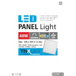 PANEL LED 60X60 40W 6500K...