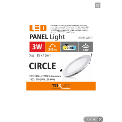 PANEL LED PODTYNKOWY 3W...