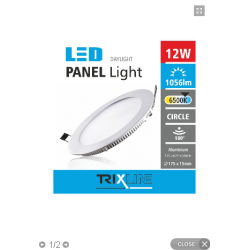PANEL LED PODTYNKOWY 12W...